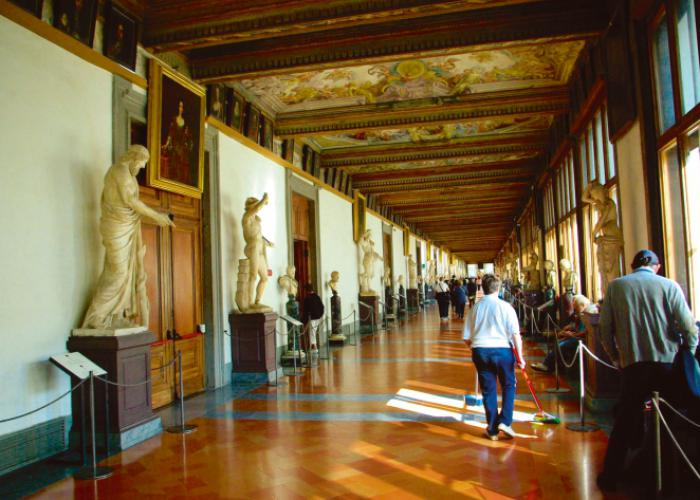 In den Uffizien in Florenz, Copyright: Eberhardt TRAVEL